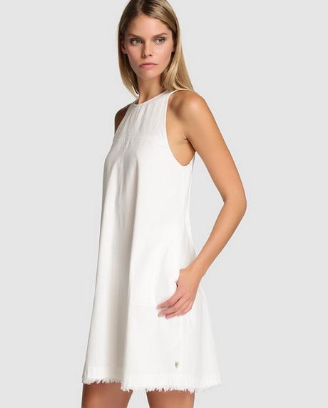 vestido vaquero blanco