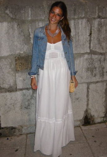 Vestido Blanco Largo Ibicenco