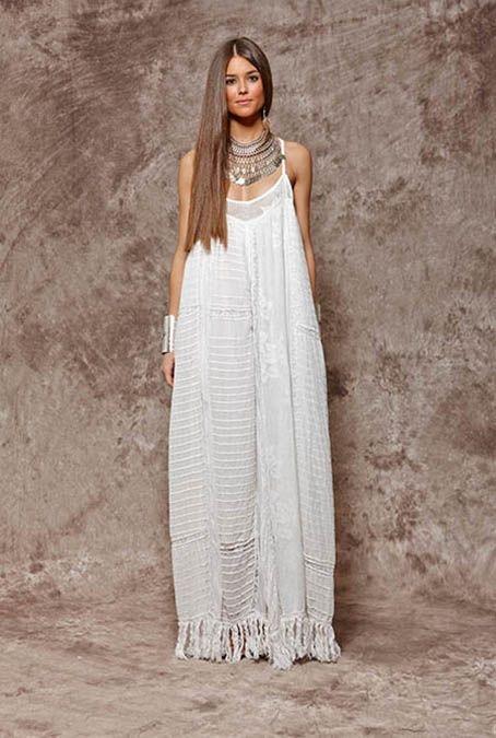 Vestido blanco largo ibicenco - Ropa estilo ibicenco ...