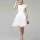 Vestido blanco cocktail