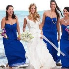 Vestidos para damas de honor color azul