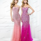 Vestidos largos con brillantes