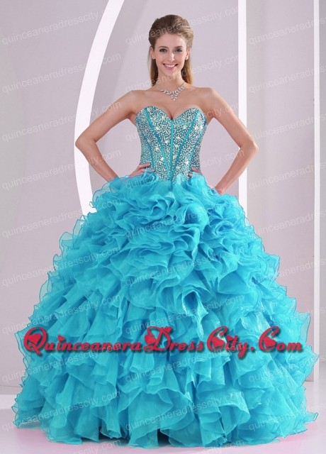 Blue dresses for quinceaneras