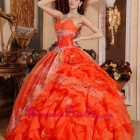 Orange quinceanera dresses