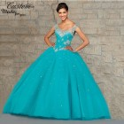 Teal quinceanera dresses
