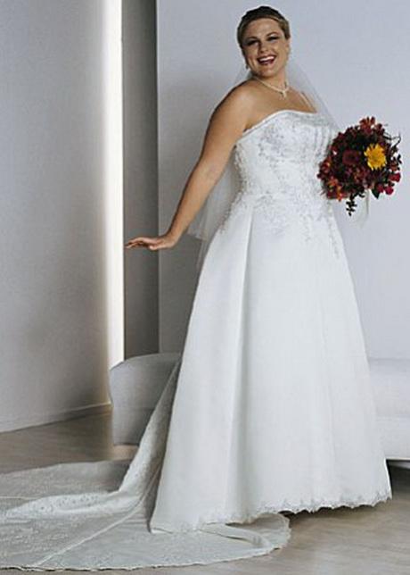 Vestidos de novia strapless para gorditas